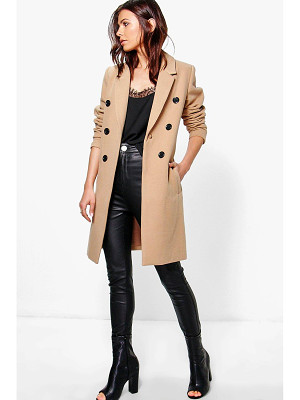 BOOHOO Natalie Double Breasted Coat