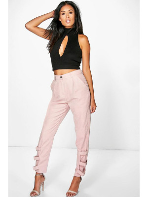 Boohoo Nysa Buckle Ankle Soft Touch Utility Trousers