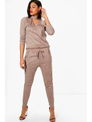 Boohoo Choker Knitted Loungewear Set