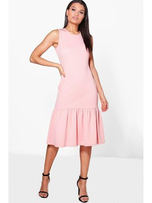 BOOHOO Olivia Drop Waist Peplum Shift Dress