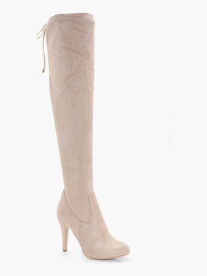 Boohoo Olivia Tie Back Over the Knee Boot