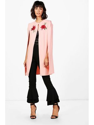 Boohoo Phoebe Longline Embroidered Cape