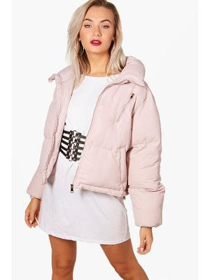 Boohoo Funnel Neck Padded Jacket