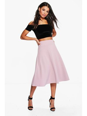 BOOHOO Royah Deep Waistband Full Midi Skirt