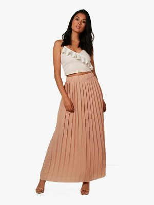 BOOHOO Ruby Pleated Chiffon Maxi Skirt