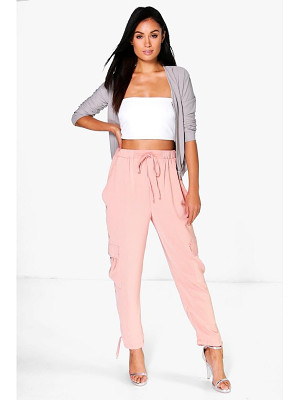 Boohoo Saffi Pocket Side Woven Utility Trousers