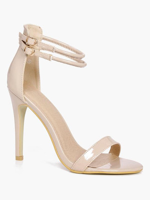 BOOHOO Sarah Double Ankle Band 2 Part Heels