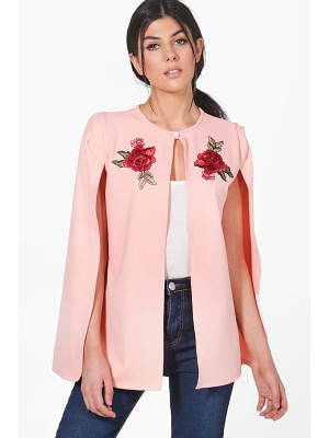 Boohoo Sarah Embroidered Cape