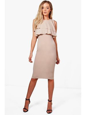 BOOHOO Sarah Midi Ruffle Dress