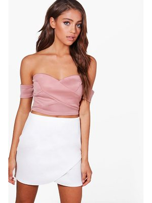 BOOHOO Tia Off The Shoulder Crop Top