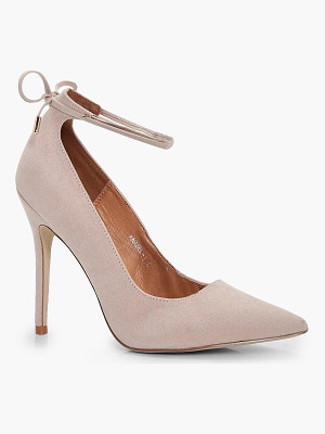 BOOHOO Tilly Ankle Tie Court Stiletto