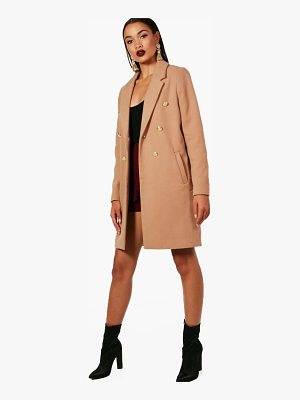 BOOHOO Una Double Breasted Military Coat