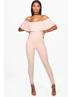 BOOHOO Una Off Shoulder Body & Trouser Co-Ord