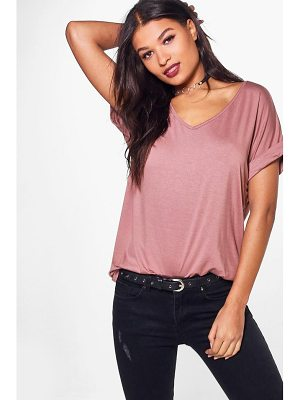 Boohoo Oversized Boyfriend V Neck T-Shirt