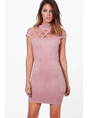BOOHOO Wanda Bonded Suedette Bodycon Dress
