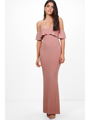 BOOHOO Zadya Slinky Double Layer Maxi Dress