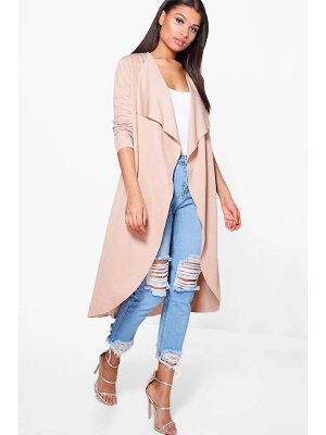 Boohoo Zoe Waterfall Duster