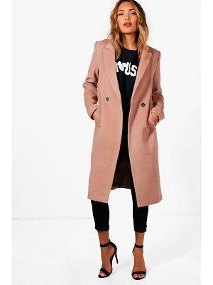 Boohoo Zoey Maxi Double Breasted Coat
