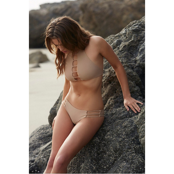 BETTINIS Strappy cheeky bottom - Made in California these low rise cheeky bikini bottoms...