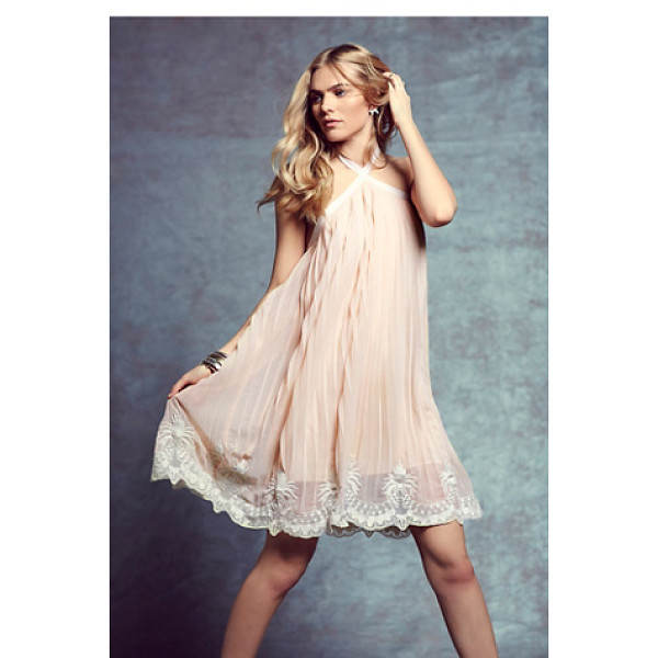 CANDELA X FREE PEOPLE Nova pleated mini - Flowy and shapeless pleated mini dress featuring a contrast...