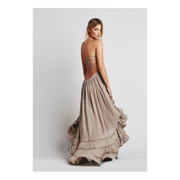 ENDLESS SUMMER Extratropical dress - Crinkly strapless maxi dress made from our sheer and gauzy...
