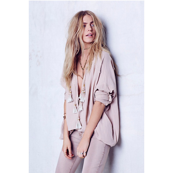 ENDLESS SUMMER Riptide tunic - Crinkled tunic made from our sheer and gauzy Endless Summer...