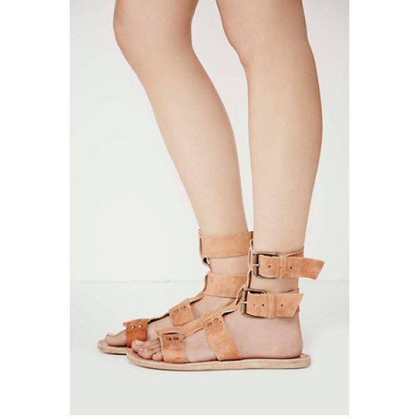 FARYL ROBIN + FREE PEOPLE Carlyn mid gladiator sandal - Washed leather gladiator sandals with rustic hardware...