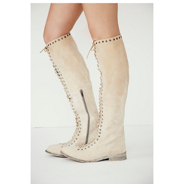 FARYL ROBIN + FREE PEOPLE Caspian tall lace up boot - Tall leather utility boot with lace-up detailing all the...