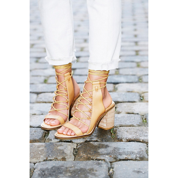 FARYL ROBIN + FREE PEOPLE Vegan nights heel - 100% vegan heeled sandal with a cute lace-up design and...
