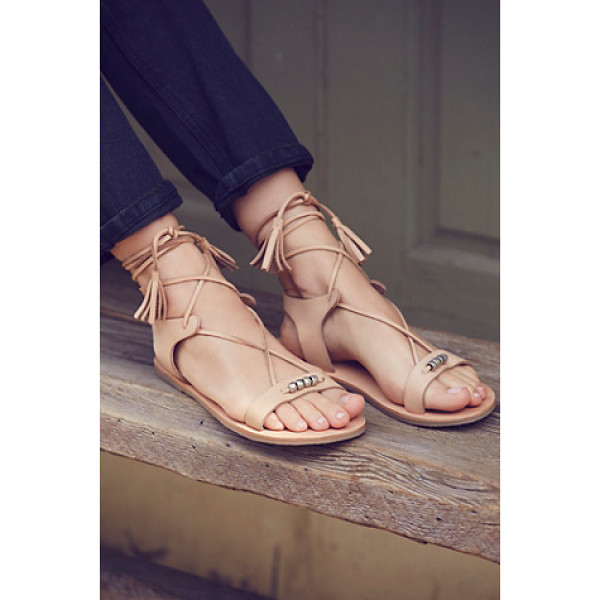FP COLLECTION Bryn marr wrap sandal - These easy boho sandals are featured in a soft leather with...