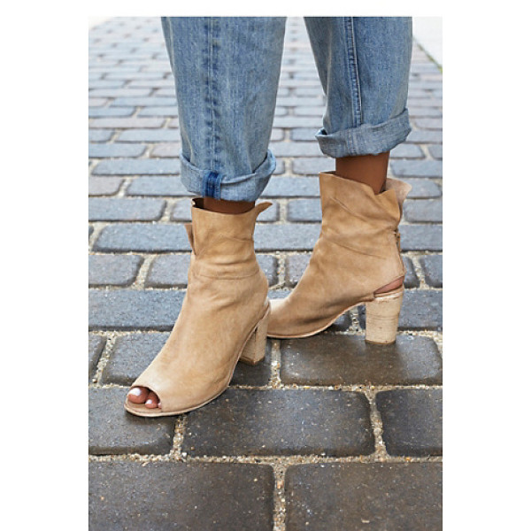 FP COLLECTION None - Soft leather ankle boots featuring an open toe and ankle....