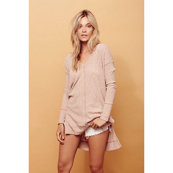 FREE PEOPLE Ace of spades tunic - In a slightly stretchy ribbed fabric this hooded tunic is...