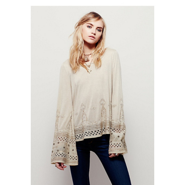 FREE PEOPLE Aphrodite top - Cropped to the natural waist this beautifully embellished...