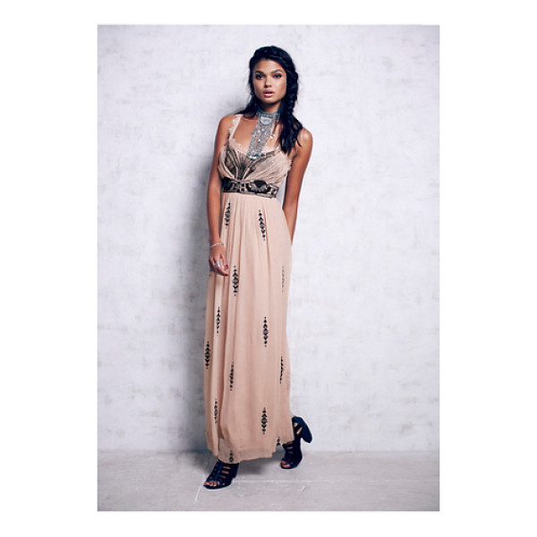 """FREE PEOPLE Artemis maxi - """"Chiffon maxi dress with gorgeous mesh sequin and..."""