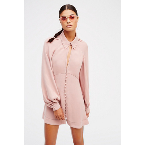 FREE PEOPLE Babetown mini - Retro-inspired mini dress with a plunging neckline and a...