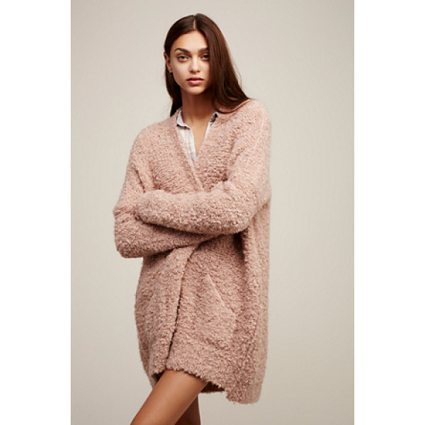 FREE PEOPLE Boucle slouch cardi - Cozy up in this super slouchy knit cardigan with large...