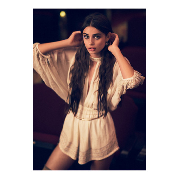 FREE PEOPLE Butterfly kisses romper - Beautiful and ethereal shorts romper featuring allover bead...