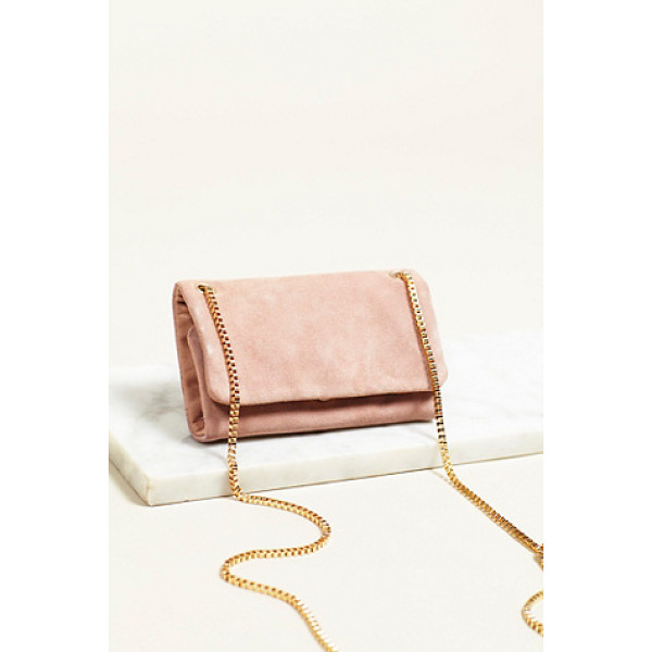 FREE PEOPLE Carolina crossbody - Mini suede crossbody bag featuring fold-open style and...