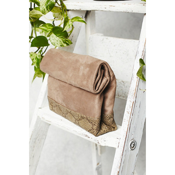 FREE PEOPLE Covet crossbody - So-soft crossbody bag featuring faux snakeskin trim and...