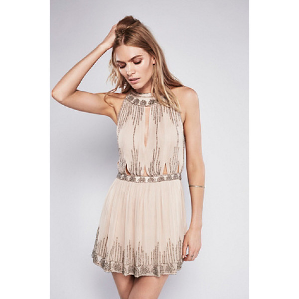 FREE PEOPLE Dancing with diamonds top - Sparkle and shine in this allover bead embellished top...