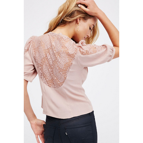 FREE PEOPLE Deep in love crop - Delicate femme top featuring pretty lace accents on the...