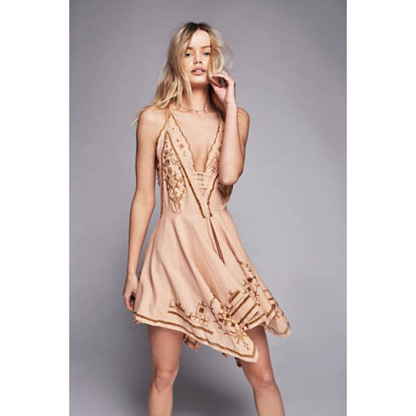 FREE PEOPLE Dreamers cove set - In a linen fabric this mini dress features beautiful...