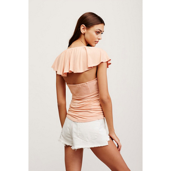 FREE PEOPLE Hailey tee - In a soft and stretchy fabrication this tee features ruched...