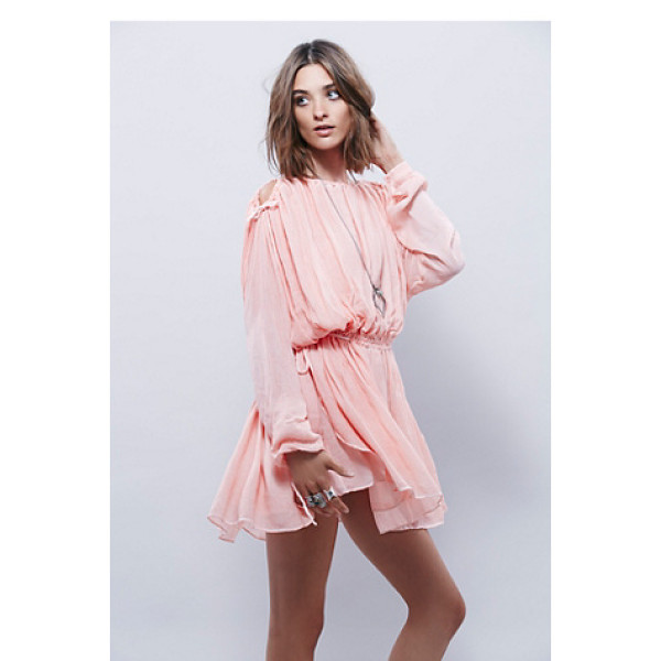 FREE PEOPLE Marrakesh dress - Lightweight woven dress with a dreamy wash long sleeves and...