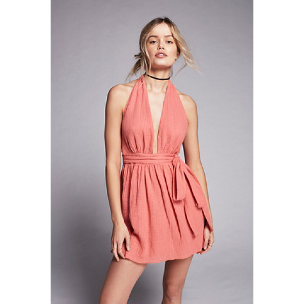 FREE PEOPLE Nadja halter dress - Made in New York this halter dress features an airy...