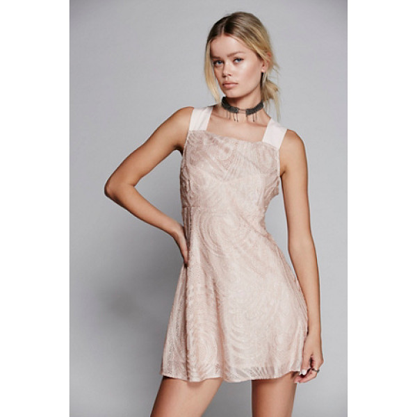 FREE PEOPLE Placed lace mini - Pretty mini dress with super sweet lace throughout....