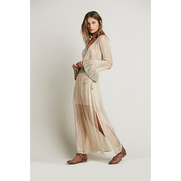 FREE PEOPLE Ray of light set - Boho inspired sheer top and skirt set.  Button-down crop...