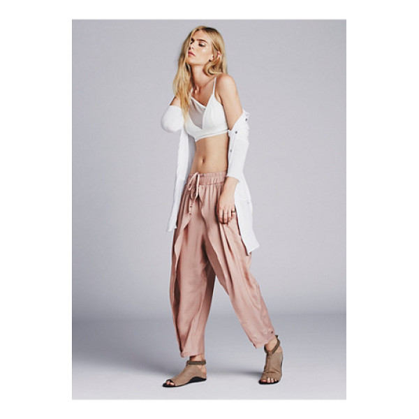 FREE PEOPLE Slouchy harem pant - Silky slouch harem pants with a petal leg and gathered...
