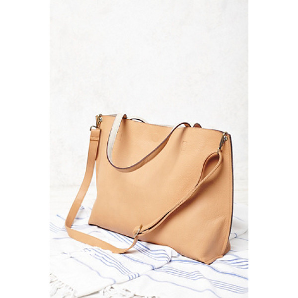 FREE PEOPLE Slouchy vegan tote - This reversible carry-everything vegan leather tote...