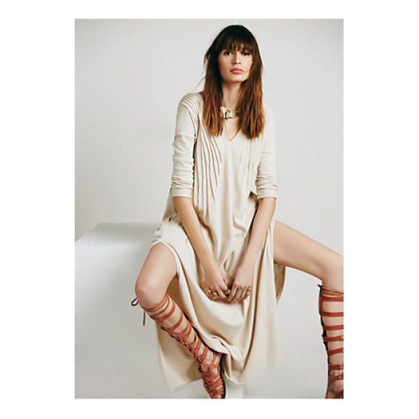 FREE PEOPLE Sophie dress - Soft knit maxi dress with three quarter length sleeves. ...